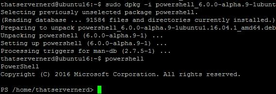 PowerShellUbuntu16